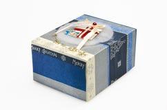Caixa de presente decorativa do Natal Foto de Stock