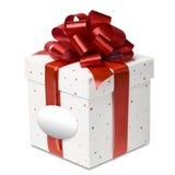 Caixa de presente do aniversário e do Natal fotos de stock