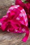 Caixa de presente do coração Foto de Stock Royalty Free