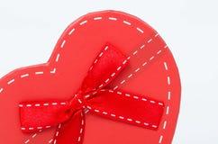 Caixa de presente do coração Imagem de Stock