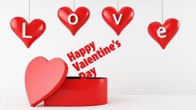 Caixa de presente do dia de Valentim ilustração royalty free