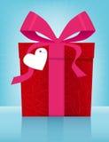 Caixa de presente do dia do Valentim Fotografia de Stock