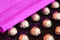 Caixa de presente do dia dos Valentim ou de matrizes - foto conservada em estoque Imagens de Stock Royalty Free