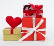Caixa de presente do grupo Imagem de Stock