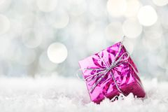 Caixa de presente do Natal Imagem de Stock