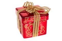 Caixa de presente do Natal fotos de stock