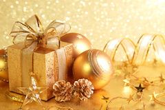 Caixa de presente do Natal Imagens de Stock