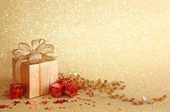 Caixa de presente do Natal Imagens de Stock Royalty Free