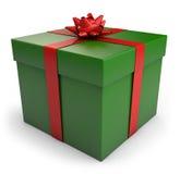Caixa de presente do Natal Fotos de Stock Royalty Free