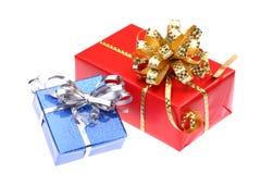 Caixa de presente do Natal Fotografia de Stock