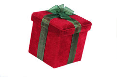 Caixa de presente do Natal Foto de Stock Royalty Free