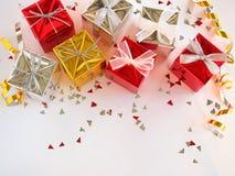 Caixa de presente do Natal Fotografia de Stock Royalty Free