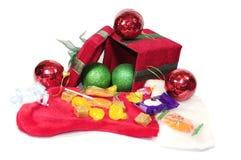 Caixa de presente do Natal aberta Fotografia de Stock