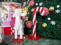 Caixa de presente do Natal colorida Foto de Stock
