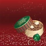 Caixa de presente do Natal com bolinhos Imagens de Stock
