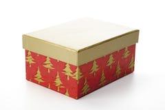 Caixa de presente do Natal com tampa separada Foto de Stock