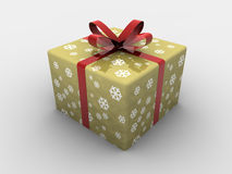 Caixa de presente do Natal isolada Fotografia de Stock Royalty Free