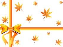 Caixa de presente do outono Imagem de Stock