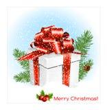 Caixa de presente do presente de Chrristmas Imagem de Stock