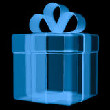 Caixa de presente do raio x isolada no preto Fotografia de Stock Royalty Free