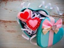 Caixa de presente do Valentim Imagens de Stock