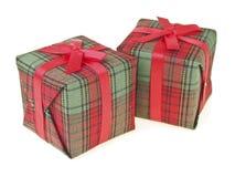 Caixa de presente do vermelho dos pares Foto de Stock
