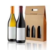 Caixa de presente do vinho Fotografia de Stock