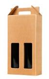 Caixa de presente do vinho no branco. Imagem de Stock Royalty Free