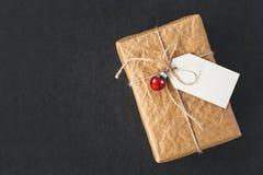 Caixa de presente do vintage Fotografia de Stock