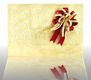 Caixa de presente dourada Fotos de Stock Royalty Free