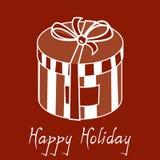 Caixa de presente feliz do feriado Foto de Stock