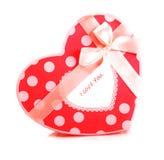 Caixa de presente heart-shaped vermelha imagens de stock royalty free