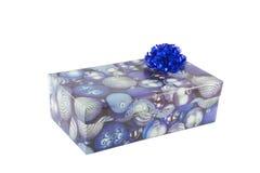 Caixa de presente isolada no branco Imagem de Stock Royalty Free