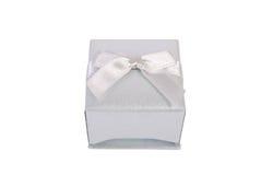 Caixa de presente isolada no branco imagem de stock