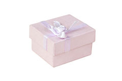A caixa de presente isolada no branco Imagem de Stock