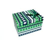 Caixa de presente isolada no fundo branco imagens de stock royalty free