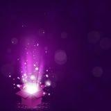 Caixa de presente mágica Foto de Stock Royalty Free