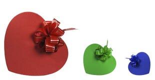 A caixa de presente multi-coloured Imagem de Stock Royalty Free
