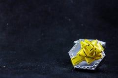 Caixa de presente para anéis Fotos de Stock Royalty Free