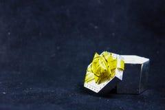 Caixa de presente para anéis Fotografia de Stock