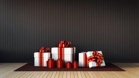 Caixa de presente para a celebração & o festival Imagem de Stock Royalty Free