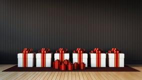 Caixa de presente para a celebração & o festival Foto de Stock Royalty Free