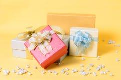 Caixa de presente para dar Imagem de Stock