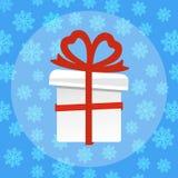 Caixa de presente Presente para o ano novo e o Natal Ilustração do vetor ilustração do vetor