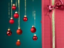 Caixa de presente perfeita do Natal Imagens de Stock Royalty Free
