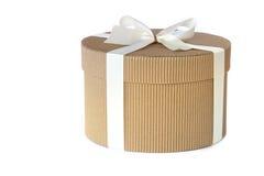 Caixa de presente redonda Fotografia de Stock Royalty Free