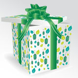 Caixa de presente verde Ilustração Stock