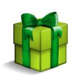 Caixa de presente verde Imagem de Stock