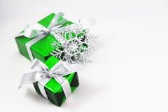 Caixa de presente verde Foto de Stock