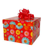 Caixa de presente vermelha Imagem de Stock
